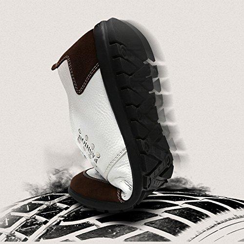 YXLONG Tendenza Da Uomo Black In L'estate Bianche Scarpe Pelle Bianco E Nuove Scarpe Scarpe Primavera Scarpe Casual Traspiranti Morbido Da Fondo Uomo qOraq