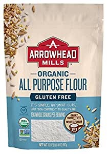 Arrowhead Mills Organic Gluten Free All-Purpose Flour, 20 Ounce (Pack of 6)