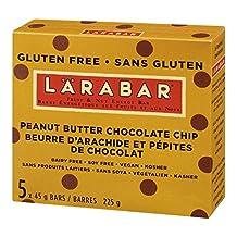 Larabar Peanut Butter Chocolate Chip Fruit and Nut Energy Bar, 5-Count, 225