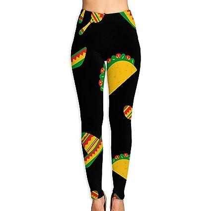 geckor Día Nacional del Taco Pantalones de Yoga para Mujer ...