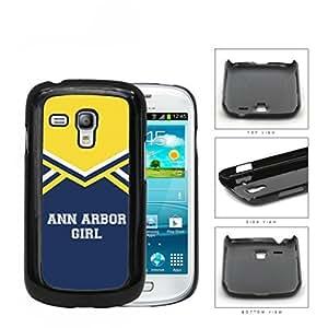 Ann Arbor City Girl School Spirit Cheerleading Uniform Samsung i8190 Galaxy S3 Mini Hard Snap on Plastic Cell Phone Cover