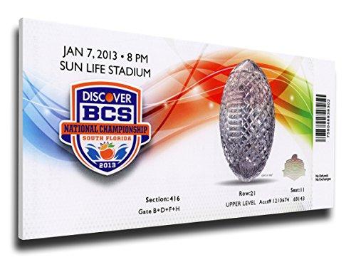 (NCAA Alabama Crimson Tide 2013 BCS National Championship Game Canvas Mega Ticket, Large, Multicolor)