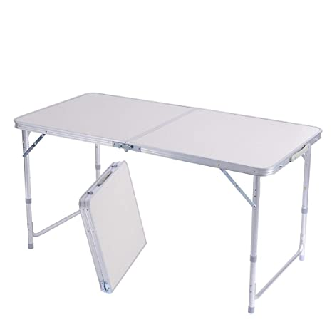 Tavoli Da Giardino Self.Sunreal 1 2m Tavolo Pieghevole In Alluminio Portatile Da Campeggio