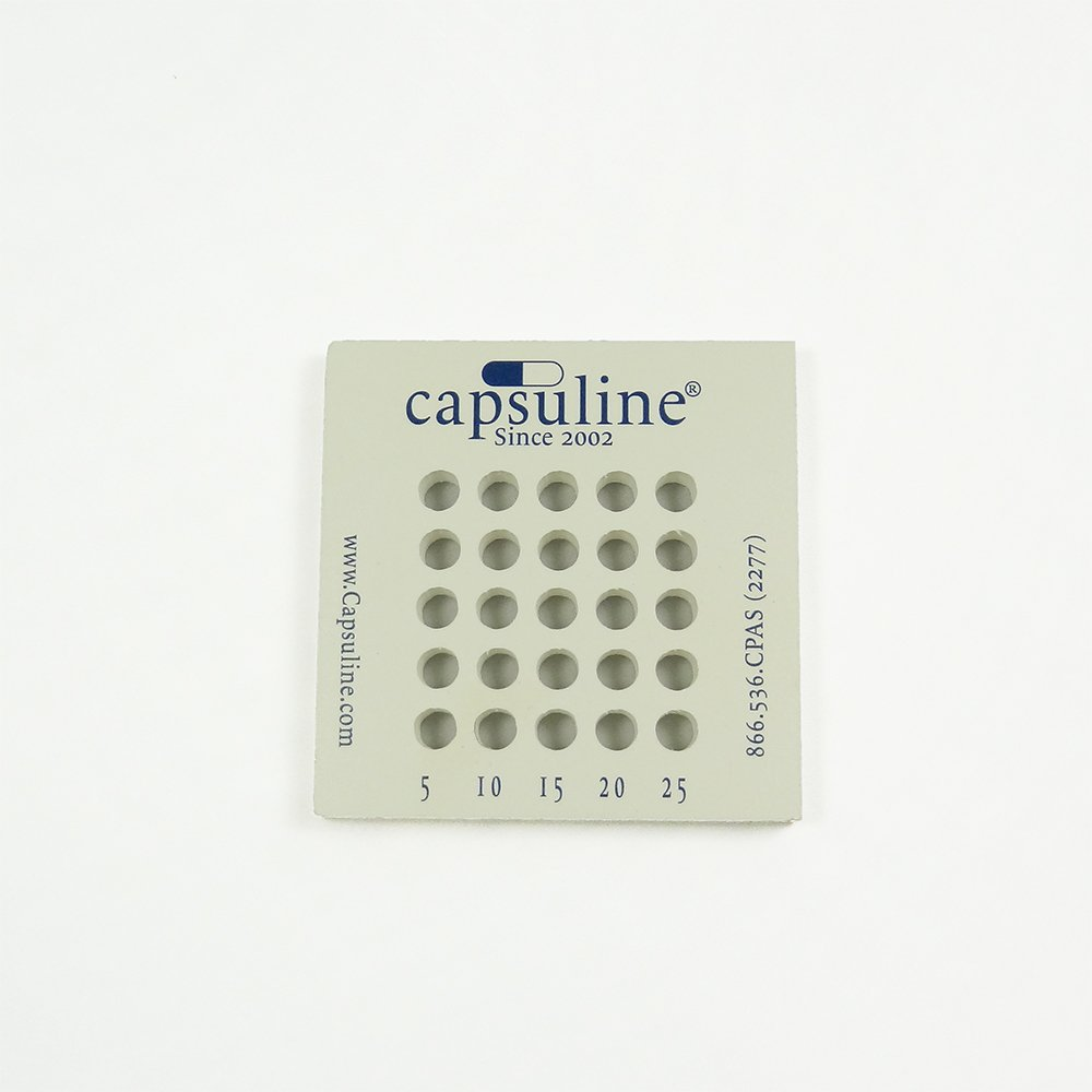 Capsuline Size 00 Capsule Holding Tray - 25 Count