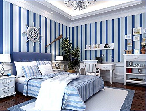 Ufengke simple moderno color puro no tejido rayas - Papel pintado dormitorio moderno ...