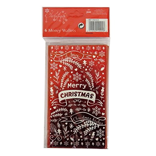 christmas money wallets with envelopes let it snow pack of 6 with
