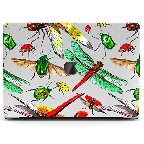 Wonder Wild Mac Retina Cover MacBook Pro 15 inch 12 11 Clear Hard Case Air 13 Apple 2019 Protective Laptop 2018 2017 2016 2015 Plastic Print Touch Bar Watercolor Insects Pattern Dragonfly Ladybug Teen -