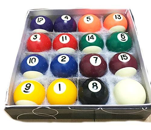 LLJ Mini Pool Balls Set 1.5- Inch Billiard Pool Balls Full 16 Balls Set