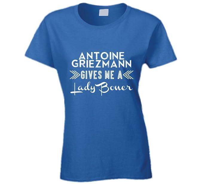 Antoine Griezmann Francia jugador de fútbol me da una dama Boner soocer Ventilador T Shirt: Amazon.es: Ropa y accesorios