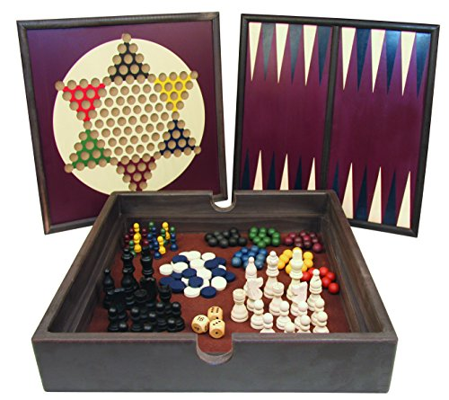 - 5-in-1 Wooden Game Set