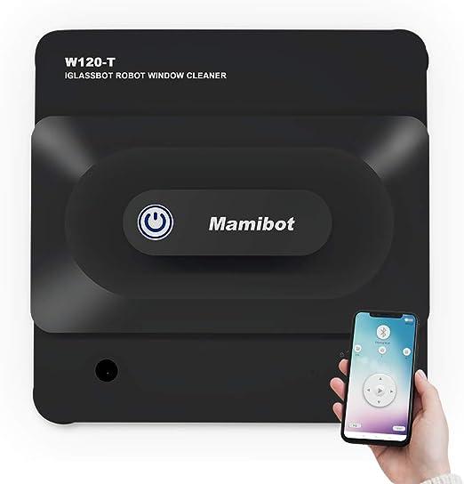 Mamibot Aspirador Robot de Limpieza de Ventanas W120-T para Ventanas de Azulejos de Vidrio con aplicación iGlass y Control Remoto (Negro): Amazon.es: Hogar