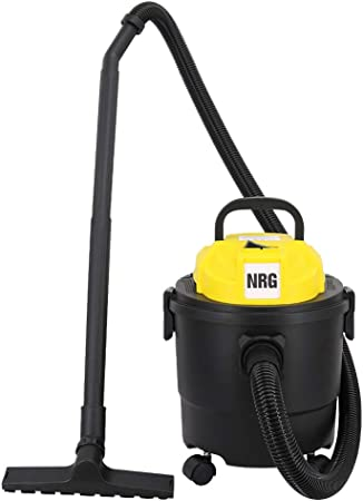NRG Wet and Dry Vacuum Cleaner, Blowing 3 in 1 Vac Cleaner, 15L 1250W Vac Cleaner with Powerful Suction, Floor Brush and Crevice Tool Included