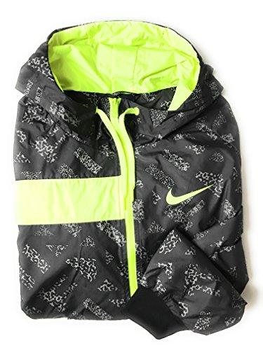 Nike Women's Woven T2 Running Jacket Pewter/Black 683918 (Running Woven Jacket)