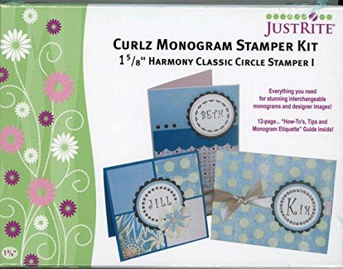 Curlz Monogram Stamper Kit, JustRite Stampers