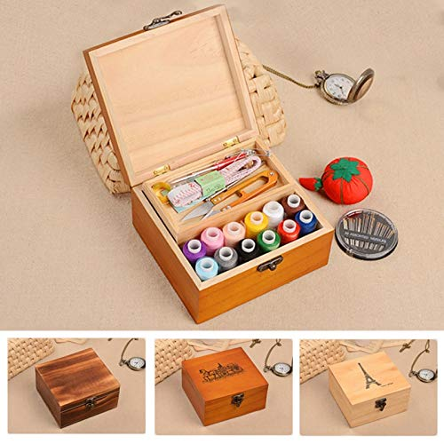 New Design Korea Style Wooded Sewing Kit Thread Threader Needle Scissor Storage Box, Antique Needle Threader - Needle Threader Tool, Sewing Storage, Wood Thread Storage Box, Dowel Threader by BAPES