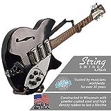 String Swing CC151-LPN-FW Horizontal Low-Profile Narrow-Body Guitar Holder for Flat Wall Mount - 1 Piece Unit