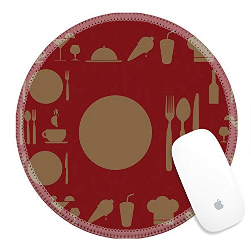 - Luxlady Round Gaming Mousepad 25353090 menu design over red background vector illustration