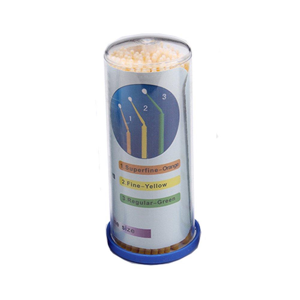 Dental Disposable Micro Applicators Dental Materials Micro Brush(Dia 2.0mm,Medium,300 Pieces) by Angzhili