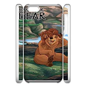 Durable Rubber Cases iphone6 4.7 3D Cell Phone Case White Ywxij Brother Bear Protection Cover