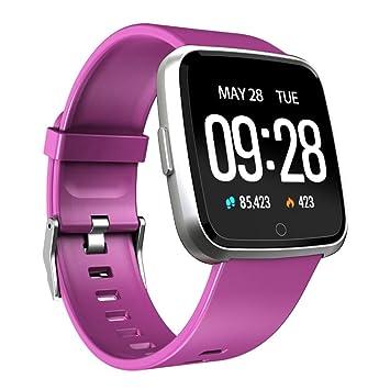 QNKEG Reloj Inteligente Monitor de Ritmo cardíaco en Tiempo ...