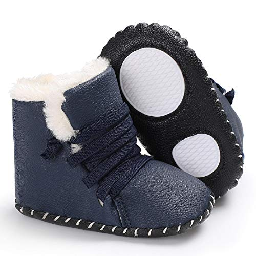 Pictures of Fnnetiana Winter PU Thickened Warm Boots Half 3