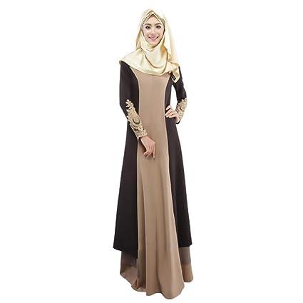 f3eb32b305 Women Muslim Modest Maxi Dress Abaya Dubai Oversize Long Robe (Pink, XL) (