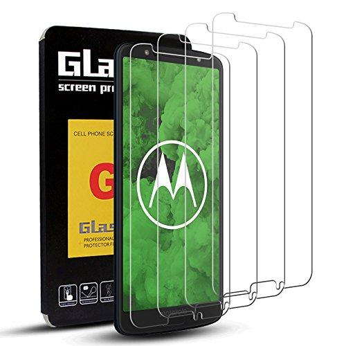 [4 Pack] Moto G6 Screen Protector, OuTera Tempered Glass Screen Protector for Motorola Moto G6, HD Clear, Anti-Scratch and Bubble Free