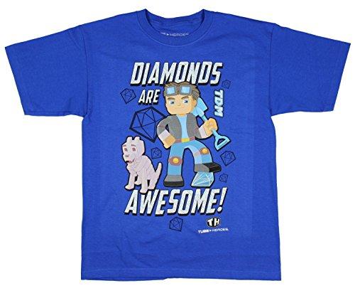 Tube Heroes Dan TDM Diamonds Are Awesome Boys Shirt (7 Diamonds Kids Shirt)