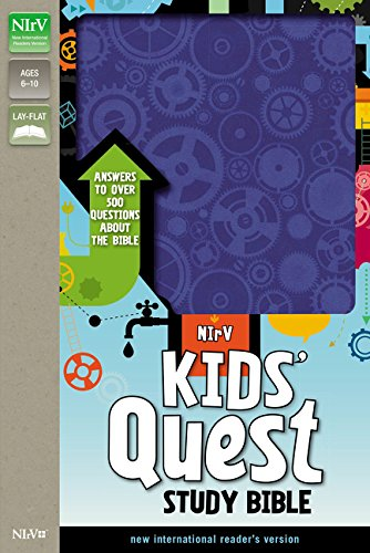 Read Online NIrV, Kids' Quest Study Bible, Leathersoft, Blue: Answers to over 500 Questions about the Bible ebook