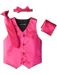 Little Boys's' Satin 4 Piece Vest Set