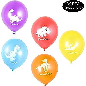 integrity.1 30 Piezas Balloons Globos de Látex de Dinosaurio ...
