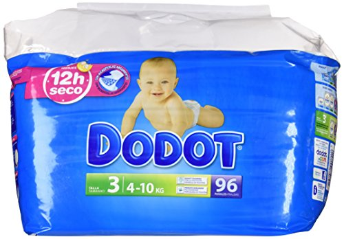 Dodot - Pack pañales bebés - Talla 3, 4-10 kg - 96 unidades