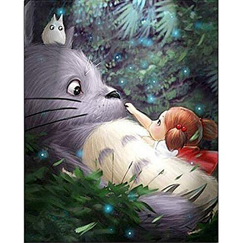 - My Neighbor Totoro Ghibli Anime 5D DIY Diamond Painting, Diamond Painting Kit, Mosaic Diamonds Kit, Full Square/Round Drill 30cm X 40cm