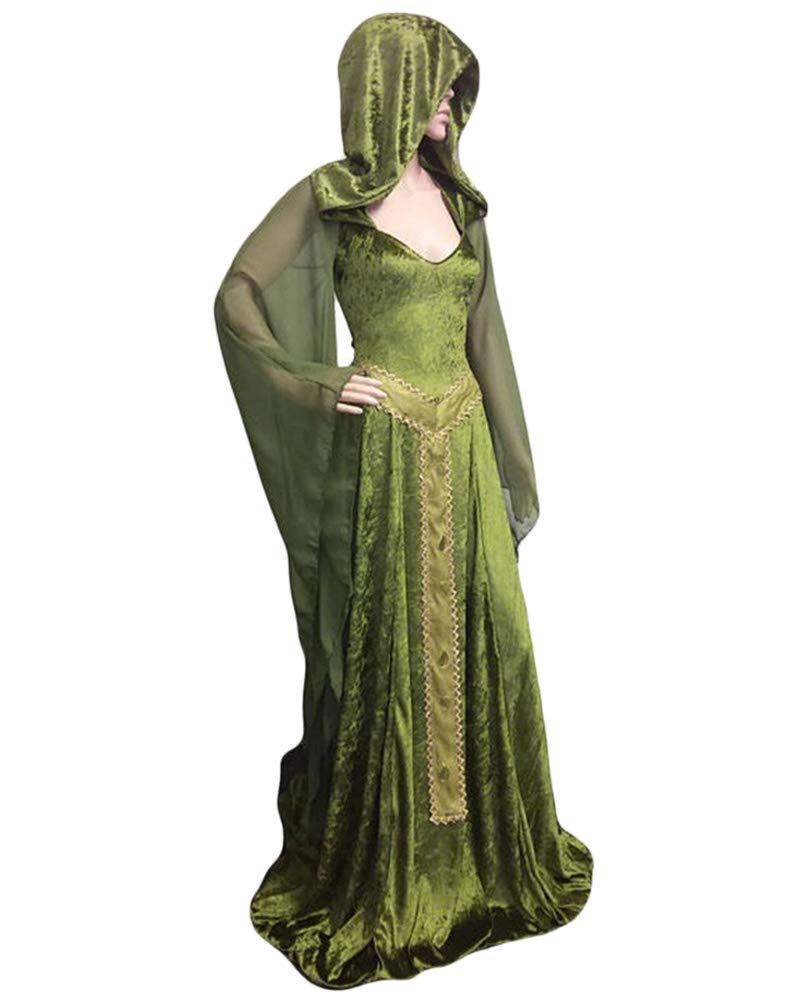 GladiolusA Vestido Largo Disfraz Medieval De Mujer Traje Cosplay ...
