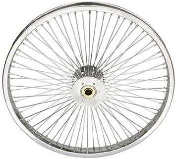 "LOW RIDER LOWRIDER BIKE BICYCLE 24/"" 72 Spoke Front Wheel 14G Chrome"