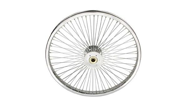 "NEW ORIGINAL BIKE BICYCLE 16/"" HOLLOW-HUB WHEEL IN 72 SPOKE IN CHROME!"