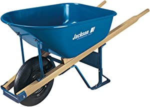 Jackson M6T22 M6T22KB Wheelbarrow, 6-Cubic Foot Capacity, Blue