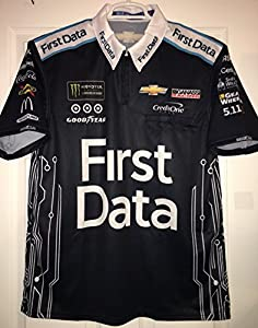 Small 2017 SPARCO Kyle Larson First Data Card Connect Clover Pit Crew Shirt Nascar Ganassi MONSTER ENERGY Racing 1/4 ZIP Chevy Chevrolet
