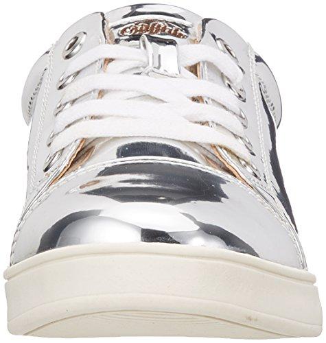Bøffel Dame 516-2139 Spejl Pu Sneaker Silber (sølv) 2B605RysO