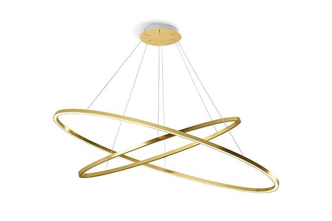Nemo ellisse Double LED lampada a sospensione, Gold LxP 135 x 70 cm 5400 +  3900lm 2700 K Amazon.it Illuminazione