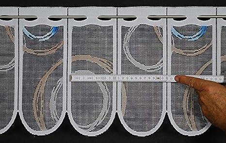 Bleu/; h Rideaux brise-bise CURL 30 cm de haut Couleur La largeur est r/églable en fonction du nombre de pi/èces en pas de 11 cm