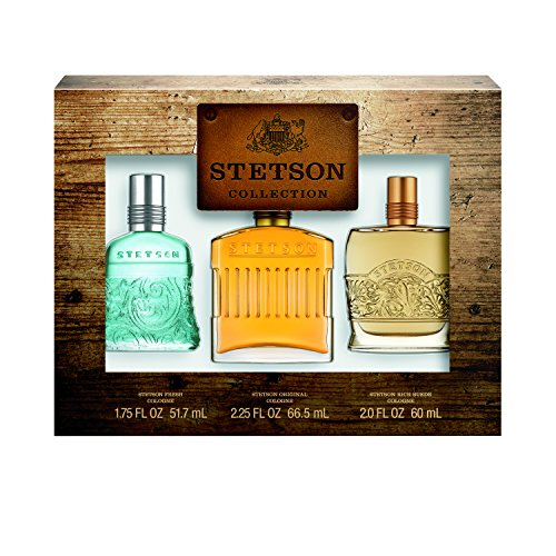 Stetson OMNI 3pc Set Decanter Set - 2.25oz Cologne Perfume (Original) + 1.75oz Cologne Perfume (Fresh) + 2oz Cologne Perfume (Rich Suede)