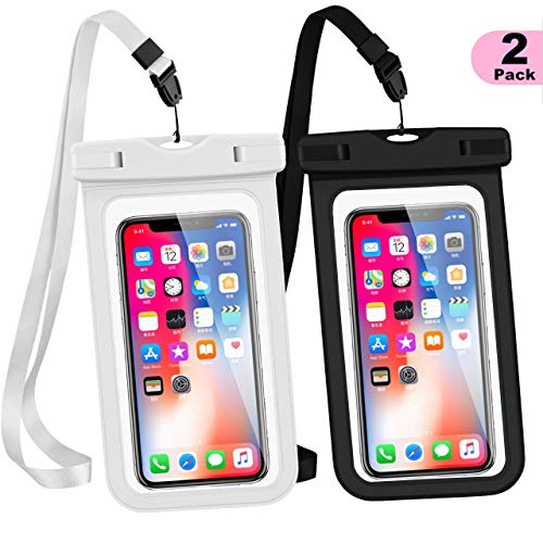 Universal Waterproof Case, WJZXTEK Waterproof Phone Pouch IPX8 Cellphone Dry Bag with Sensitive Screen for Water Sports Compatible for iPhone 11 Pro XR/XS MAX/X/8/7/6S Plus, Samsung S10/S9/S8 and More