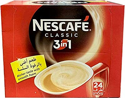 Nescafe Instant Coffee Mix, 3-IN-1 (24x20g) by Saad Trading INC