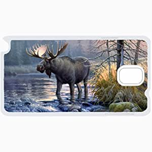 Samsung Galaxy Note 3 Cases Customized Gifts Moose White Hard PC Case