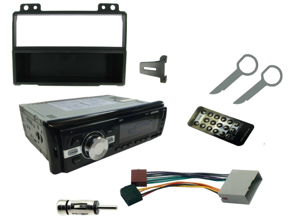 XtremeAuto® FORD FIESTA MK6 / FUSION, 2001 - 2005, COMPLETE CAR STEREO UPGRADE REPLACEMENT KIT! 200w Head Unit with Wireless Bluetooth, MP3 Player, USB Data Port / Charger, FM Radio. ALSO INCLUDES: Fascia Plate Adapter, ISO Lead, Aerial Adaptor, Mounti