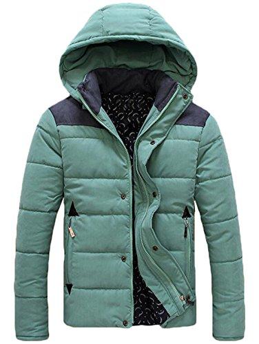 Noi L Eku Verde Piumino up Leggero Cappuccio Maschile Staccabile Cappotto Zip pq68Za