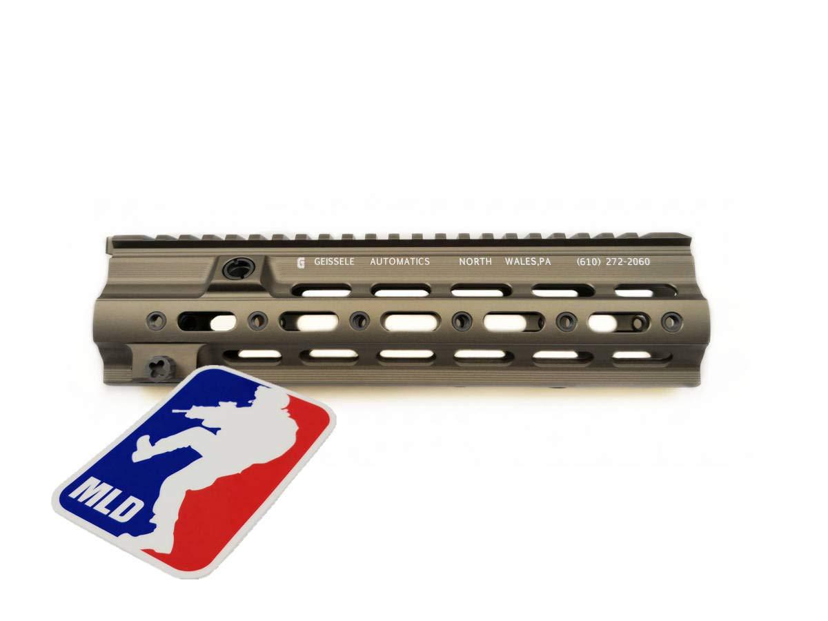 Geissele ガイズリ SMRタイプ リアル刻印 AEG GBB HK416用 ハンドガド 10.5インチ FDE 東京マルイ HK416 デルタカスタム DEVGRU VFC B07QK81ZJS