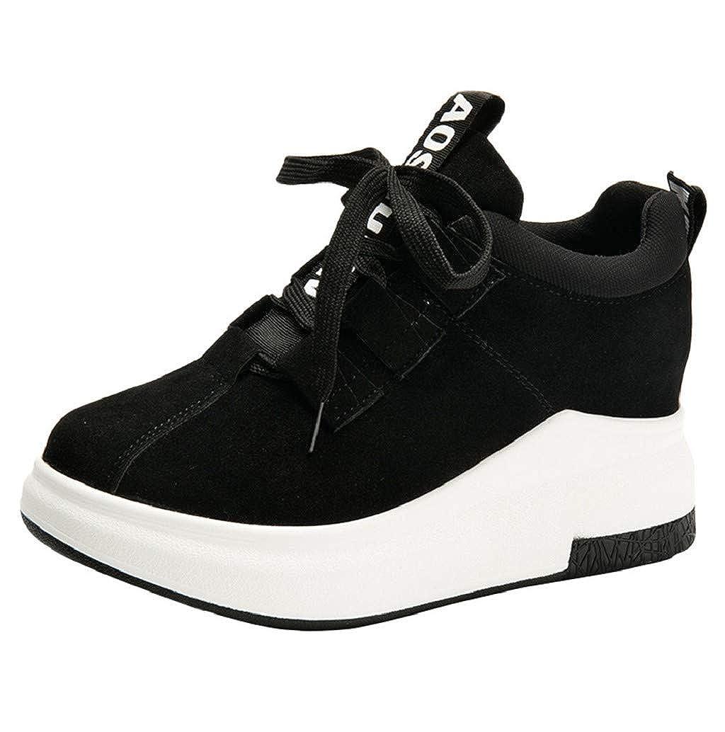 80735e070c95b Boomboom Women'Shoes Women's High Top Wedge Heel Sneakers Platform ...