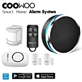 Smart Wifi Thermostat - COOWOO ST30 Professional Wireless Smart Home Security Alarm System DIY Kit, App Control by Smartphone, Works with Amazon Alexa